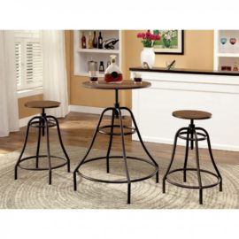 "36"" Bar table and barstool set"