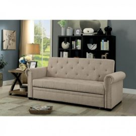 Queen Tan sleeper sofa