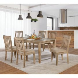 Natural wood 7 pc dinning set