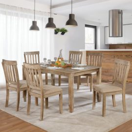 Kiara Natural wood 7 pc dinning set