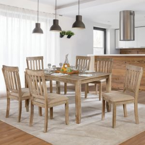 Kiara Natural wood 7 pc dinning set