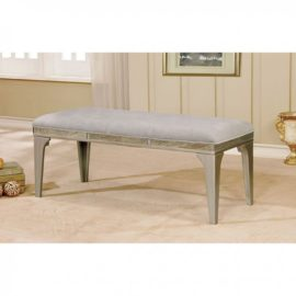 Grey Upholstered dining Bench