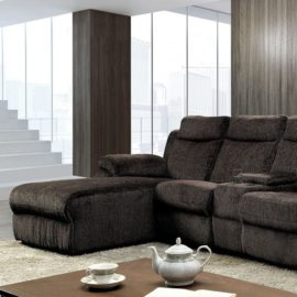 Brown Recliner sofa chaise
