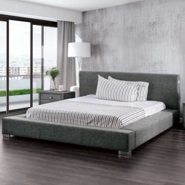 Canaves Platform Bed Dark Grey