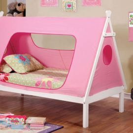 Tent Bed white and Pink