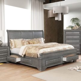 BRANDT GREY NATURAL STORAGE BED