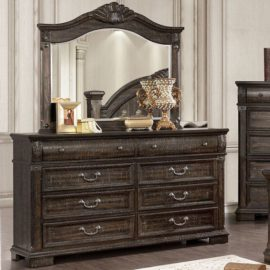 Genevieve Traditional Distressed Walnut dresser