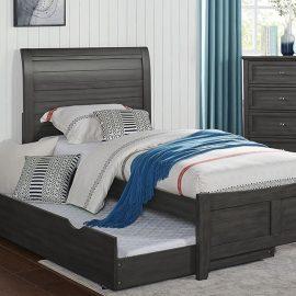 Brogan Grey Wood Twin or Full Bed