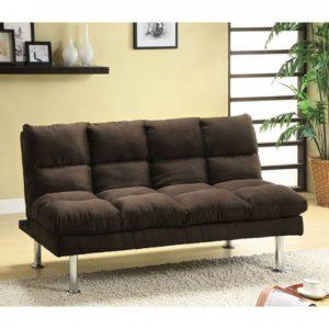 Plush Brown Sleeper Sofa