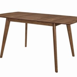 Modern Walnut dining table chair bench