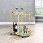 Gold Nickel Serving Cart