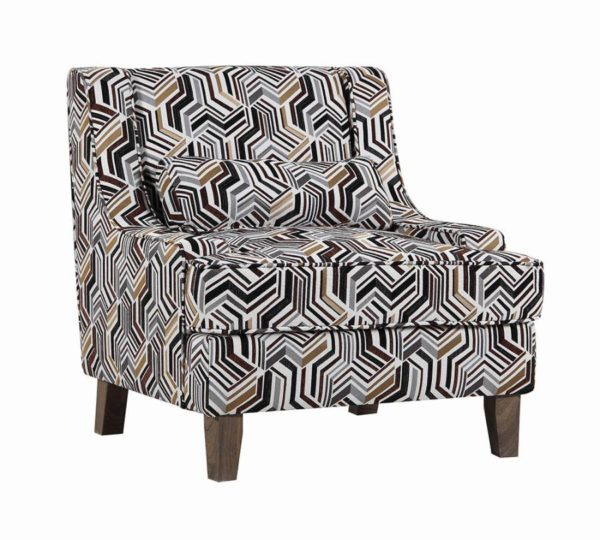 Geometric Pattern Accent Chair