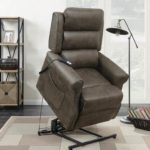 Casual Brown Power Lift Recliner