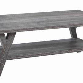 1-Shelf Rectangular Table Distressed Grey
