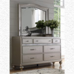 Silver Grey Metallic 7Drawer Dresser