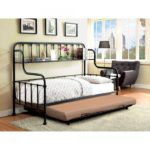 Carlow Classic Metal Daybed with Bookshelf
