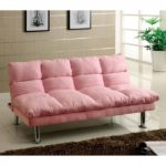 Plush Pink Sleeper Sofa