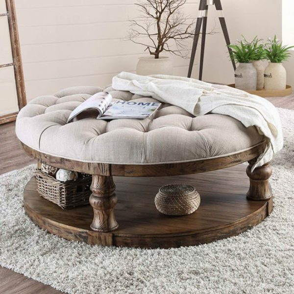 Mika Upholstered Coffee Table