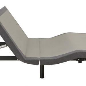 Clara Adjustable Bed Base Grey And Black