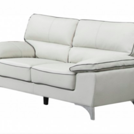 Modern Light Grey Sofa Loveseat