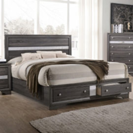 Regata Rustic Grey Bed Frame
