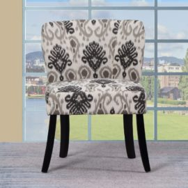 Blue A92 Floral Accent Chair