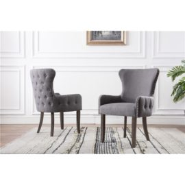 Linen or Velvet Upholstered Accent Chairs