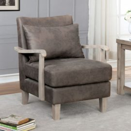 ADRIENNE BROWN ACCENT CHAIR