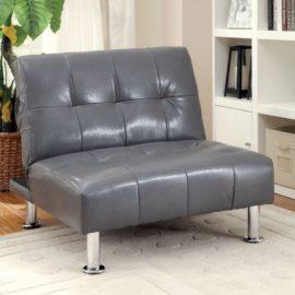 Bulle Futon Grey Sleeper Chair sofa