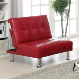 Bulle Futon Red Sleeper Chair