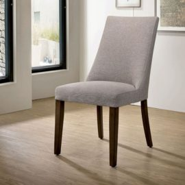 Walnut upholstered dining chair