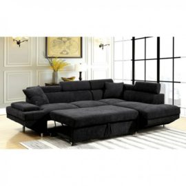 Foreman Black Sleeper Sectional