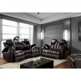 Zaurak Media Grey Recliner Sofa