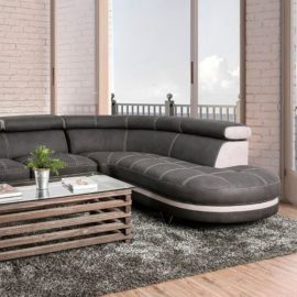Graphite/Beige Modern Sectional
