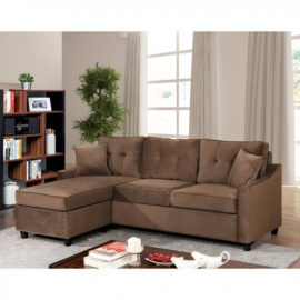 Hakin Brown Sectional Sofa Chaise
