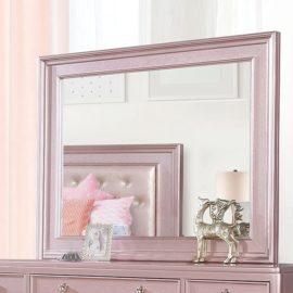 Avior Rose Pink Tufted Mirror