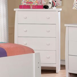 Marlee White Captain Bed Chest