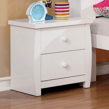Marlee White Captain Bed Nightstand