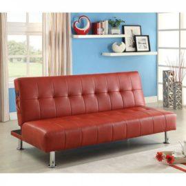 Bulle Futon Red Sleeper Sofa
