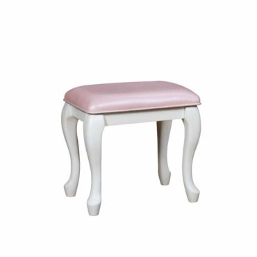 White pink Vanity Stool