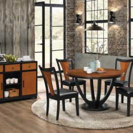 Boyer Amber And Black Dining Table