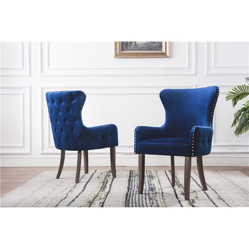 Velvet Accent Chairs In Two Colors Paradise Furniture Store