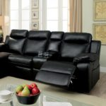 HARDY BLACK SECTIONAL W/ CONSOLE