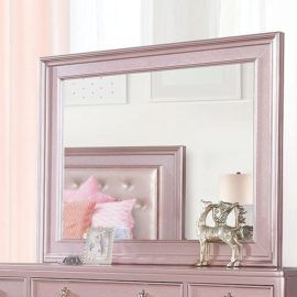 Avior Rose Pink Tufted Mirror