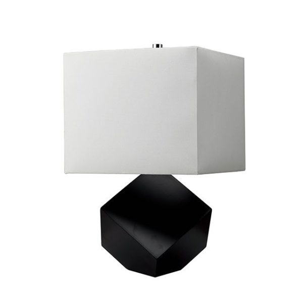 Isa Black wood sculpture table Lamp