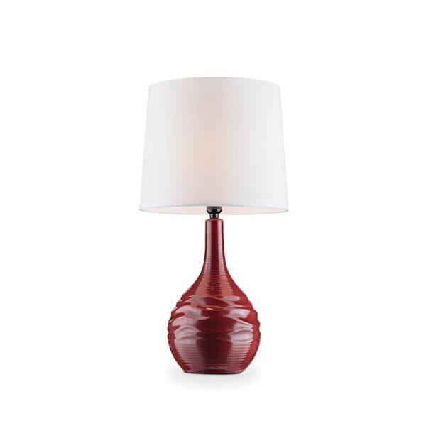 Ida Table Lamp Burgundy