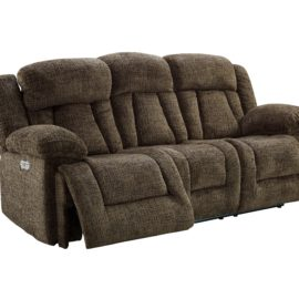 Laura Power Chocolate Recliner Sofa