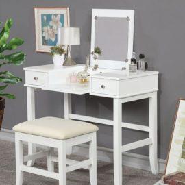 Kelis White Vanity Set