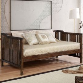 Petunia Walnut Twin Daybed