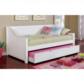 FLO White Daybed with Bookshelf